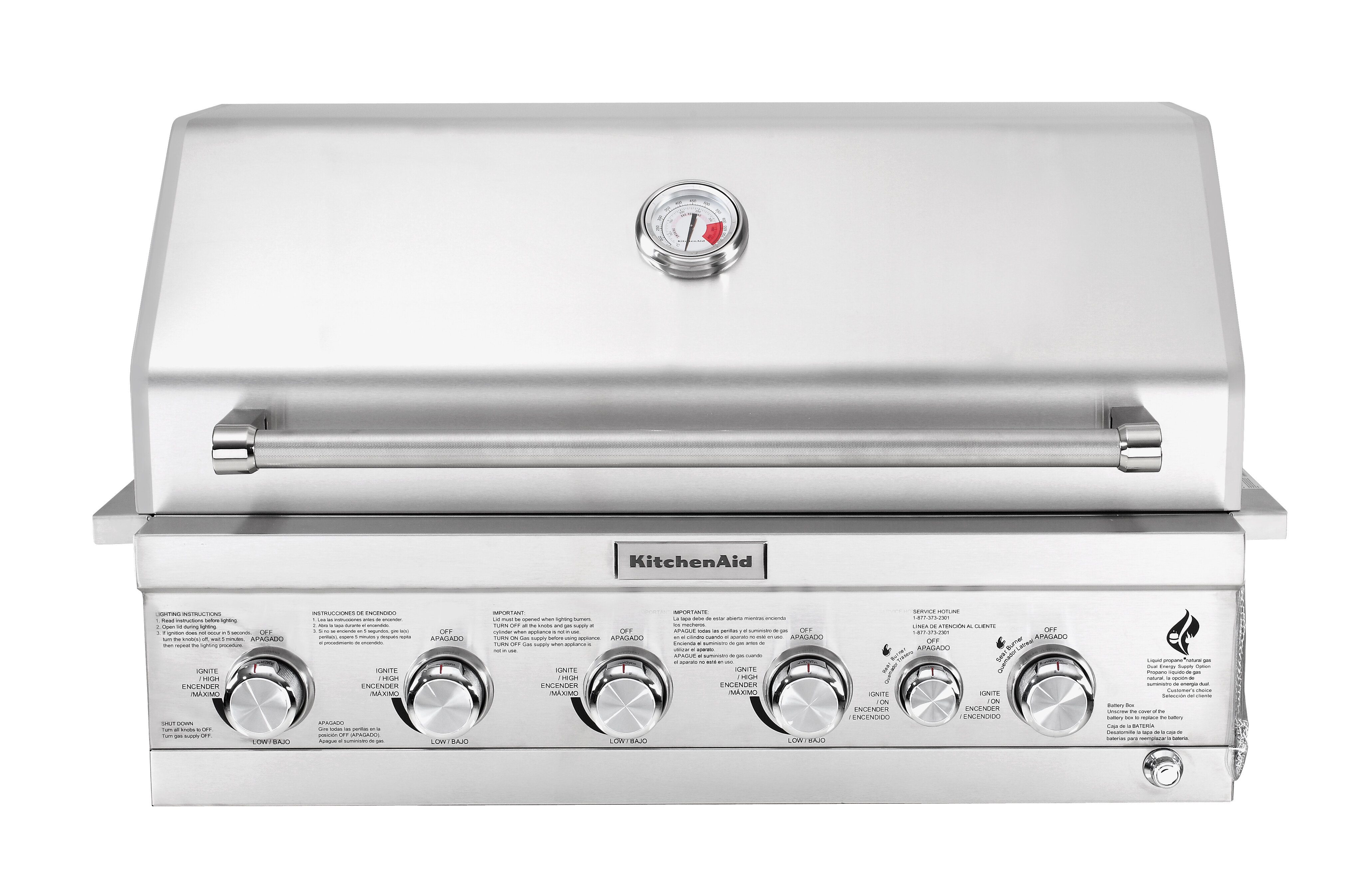 4-Burner Built-In Liquid Propane Gas Grill - 740-0781