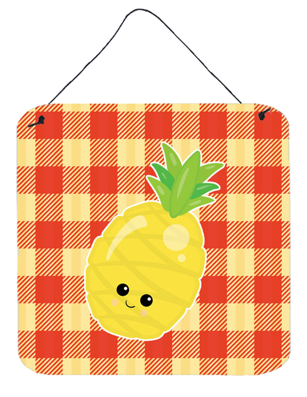 Zoomie Kids Pineapple Face Wall Décor | Wayfair