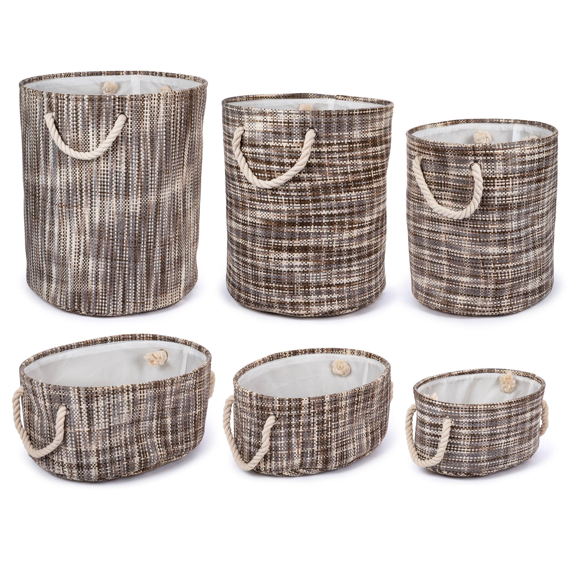 Merveilleux Rosecliff Heights 6 Piece Round Fabric Storage Basket Set | Wayfair