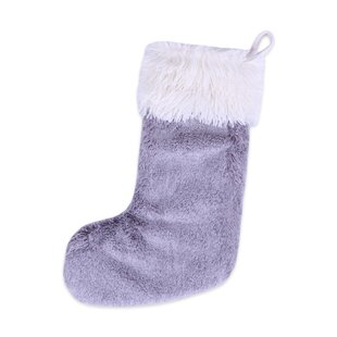 grace fur with faux fur cuff stocking - Purple Christmas Stockings