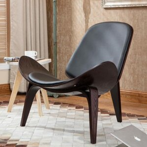 Petra Shell Wing Lounge Chair by Langley Street