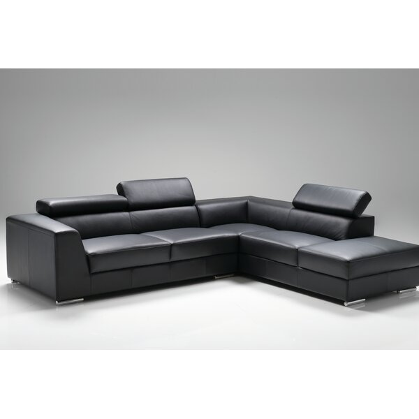 orren ellis cesca right side facing chaise sectional. Black Bedroom Furniture Sets. Home Design Ideas
