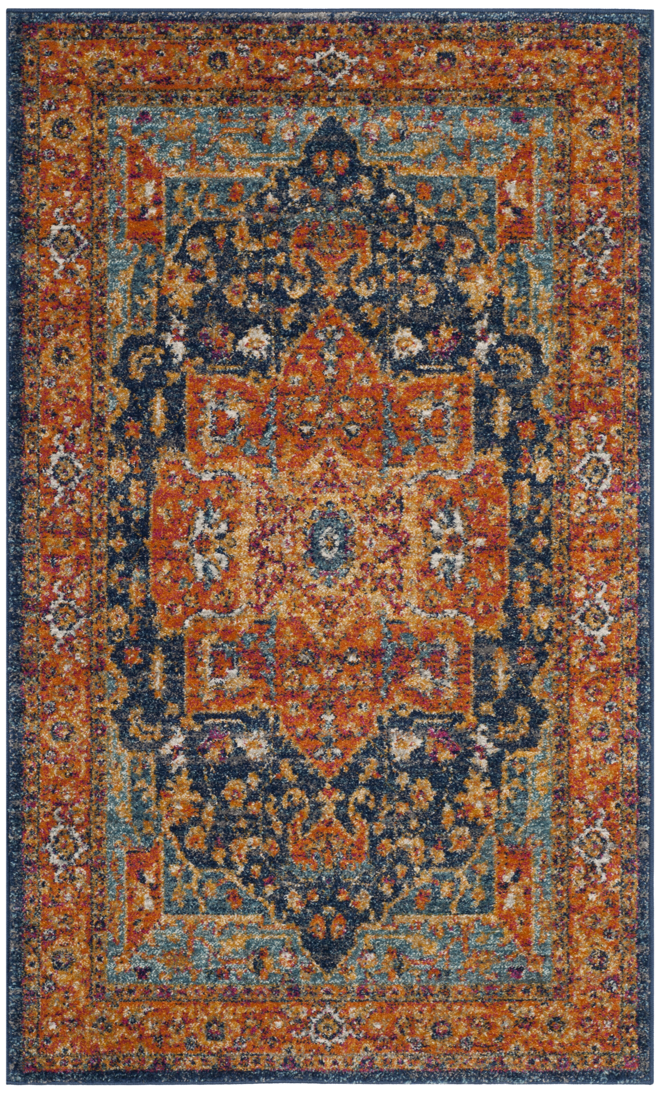 blue and orange rug uniquely modern rugs. Black Bedroom Furniture Sets. Home Design Ideas