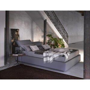 Upholstered Platform Bed by J&M Furnit..