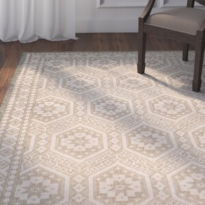 Baum Hand-knotted Beige Area Rug