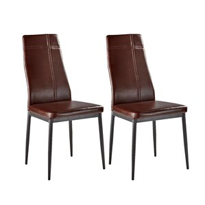 Cerise Upholstered Wood Dining Chair (Set..