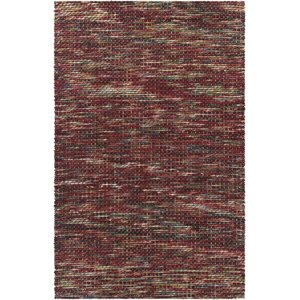 Oana Textured Contemporary Wool Red Area Rug