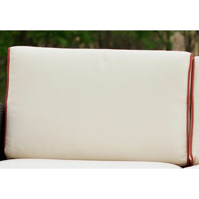 Brayden Studio Loggins Outdoor Sofa Cushion Cover Set Color: Ivory