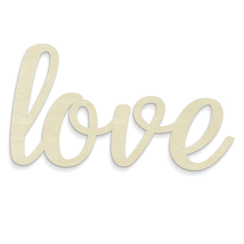 ivy bronx huge cursive word love wall décor wayfair