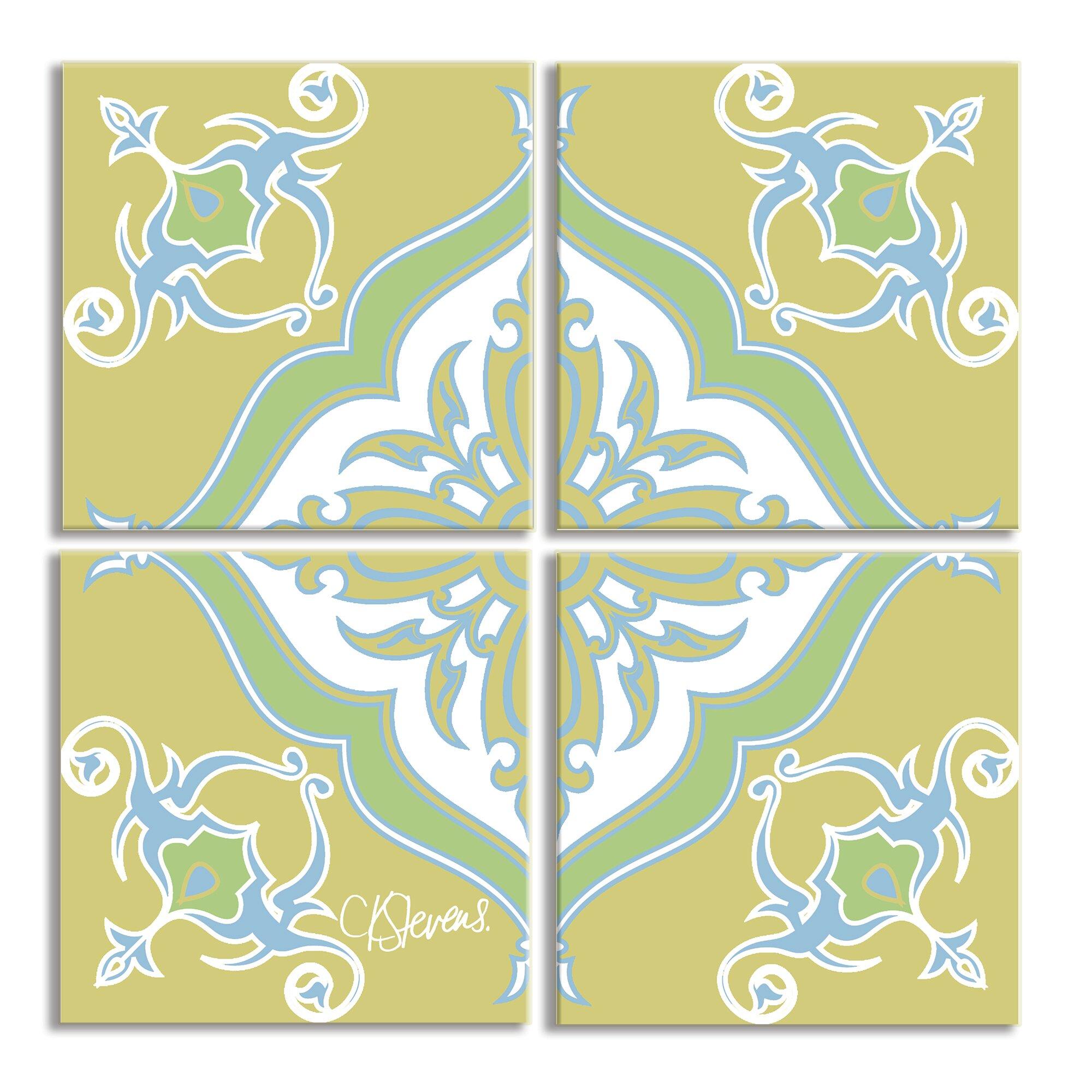 Stupell Industries Square Symbol 4 Piece Canvas Wall Art Set | Wayfair
