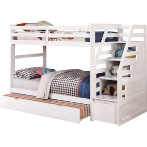 Cosmo Twin Bunk Bed with Trundle and Storage by Wildon Home ?