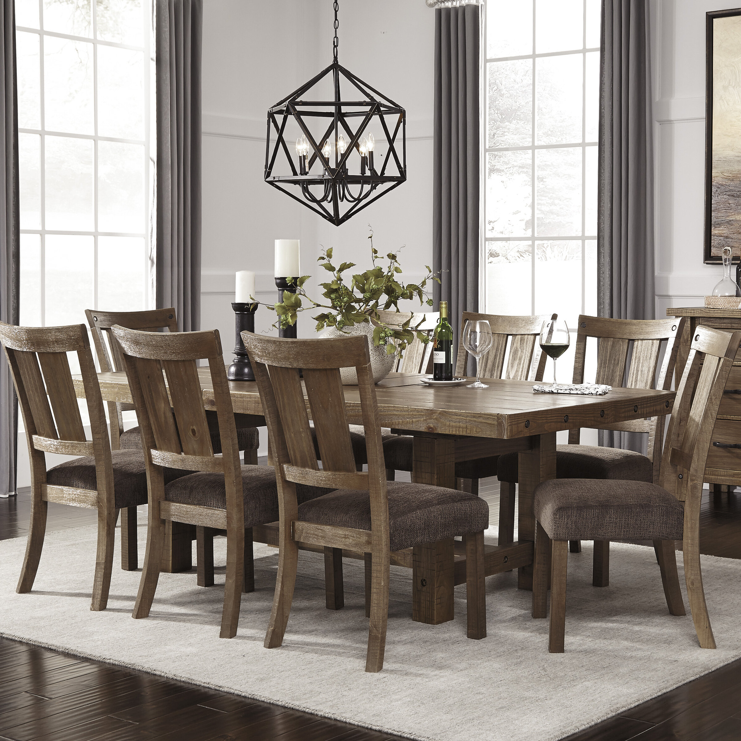 Dinning Set: Loon Peak Etolin 9 Piece Dining Set & Reviews