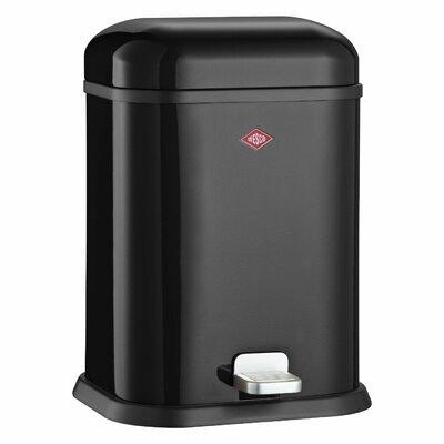 Wesco Singleboy 3.4 Gallon Step On Bathroom Trash Can Color: Black