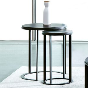 Maureen Round 2 Piece Nesting End Tables by Wade Logan
