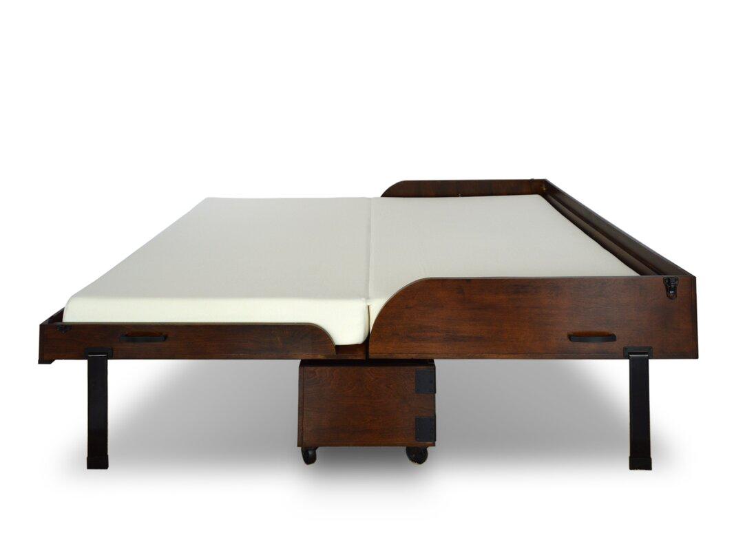 Wayfair Queen Bed Platform Wayfair Canada Queen Bed Frame: RoomAndLoft Rolling Queen Storage Murphy Bed With Mattress