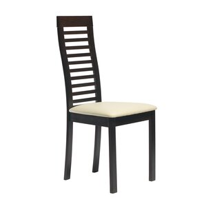 Diogenes Side Chair in Leatherette - Blac..