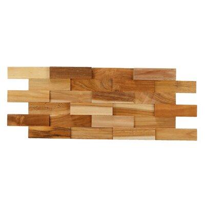 Brick 3d Pattern Wood Tile In Brown Baredecor