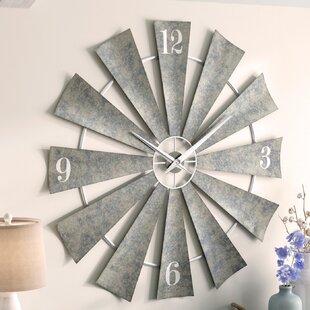 "Oversized Windmill 48"" Wall Clock"