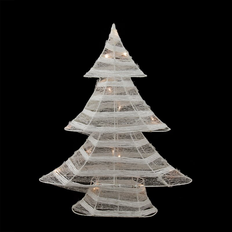 battery operated glittered led lighted christmas tree table top decoration