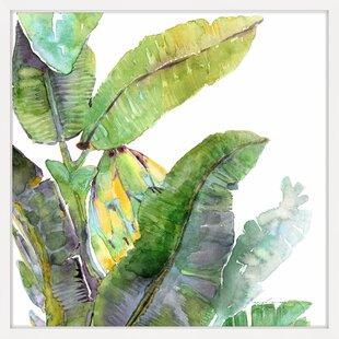 leaves tropical wall art you ll love wayfair