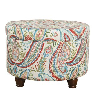 Bungalow Rose Franky Bold Paisley Storage Ottoman Image
