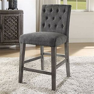 Anika Button Tufted Counter Height Upholstered Dining Chair (Set of 2)