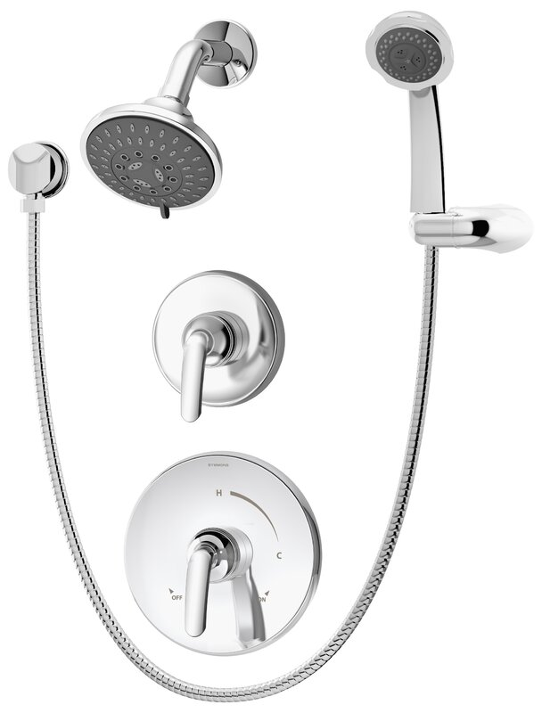 Shower With Hand Shower Part - 44: Elm Pressure Balance Hand Shower System With Lever Handle