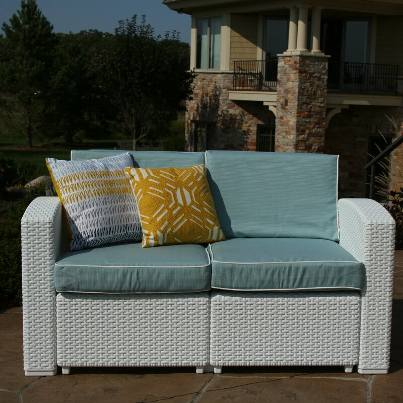 Cielo Patio Loveseat With Cushions