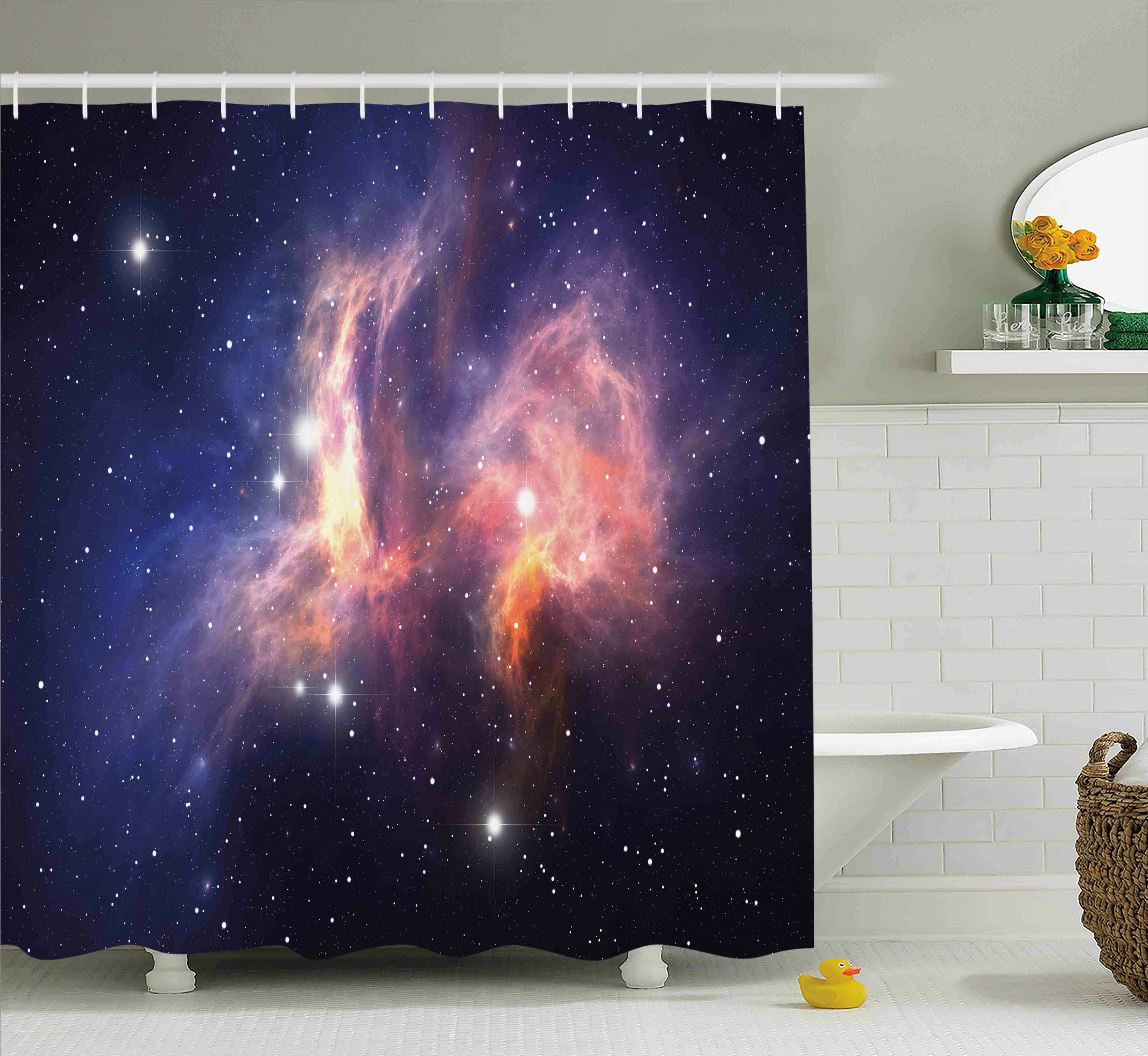 East Urban Home Stardust In Universe Shower Curtain
