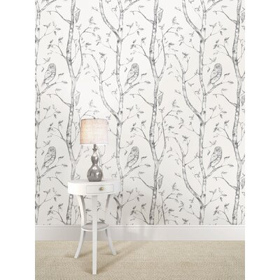 August Grove Kraker 18' x 20.5 Gray Woods Wallpaper Roll