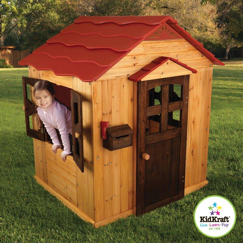 Kidkraft Outdoor Playhouse Amp Reviews Wayfair
