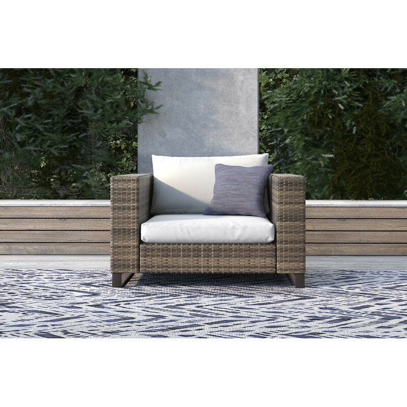 tommy hilfiger oceanside outdoor wicker patio chair with cushions rh wayfair com