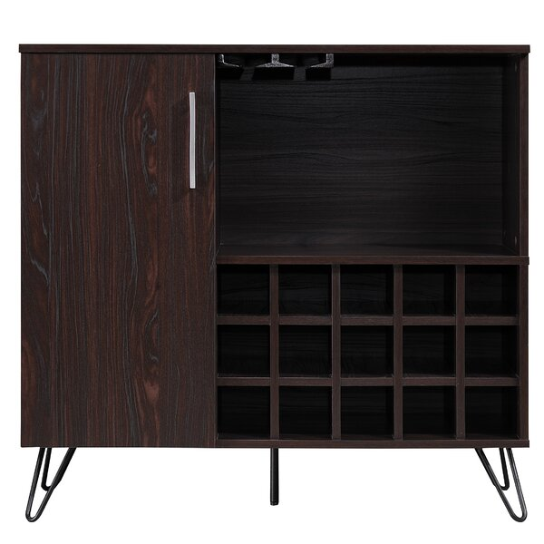 Wenge Buena Vista Mid Century Wine And Bar Cabinet by Allmodern