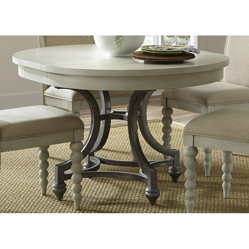 65a48dc4b1d3 Lark Manor Saguenay Extendable Dining Table   Reviews