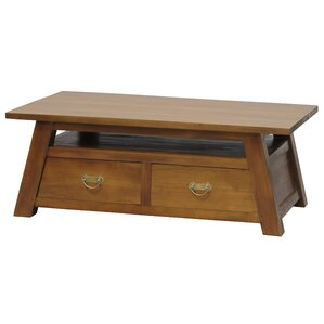 Japanese Fine Handcrafted Solid Mahogany Wood Coffee Table by NES Furniture