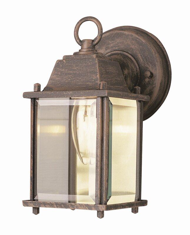 Wall Sconces Next To Tv: Wrought Studio Catanzaro 1-Light Outdoor Wall Lantern