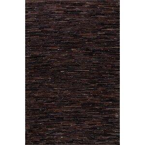 Olaughlin Hand-Woven Dark Brown Area Rug