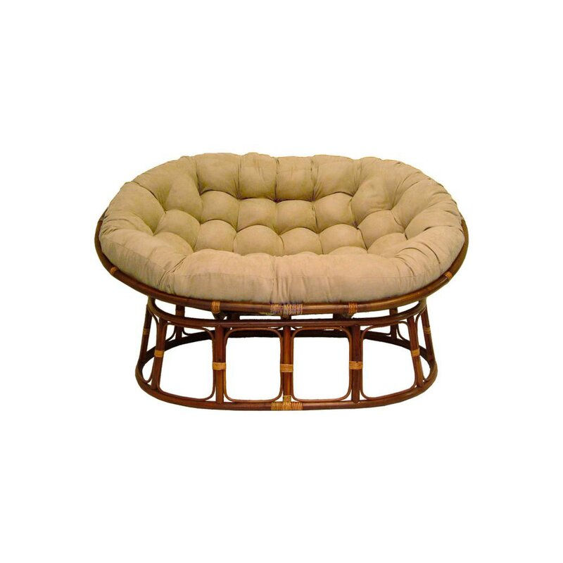 Pampasan Chair international caravan rattan double papasan chair with micro suede