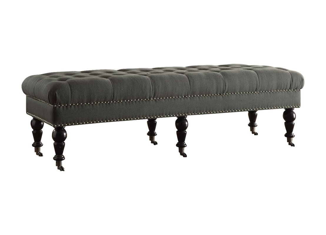 charlton home driffield upholstered bedroom bench  reviews  wayfair - defaultname