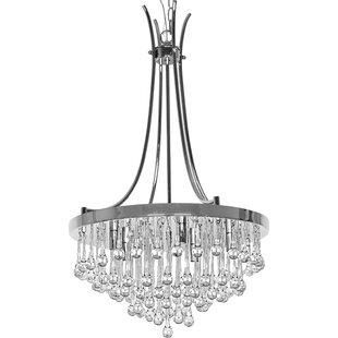 Aidan 5 Light LED Crystal Chandelier
