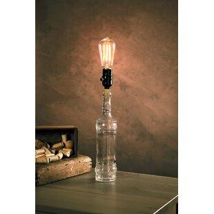 glass bottle lamp decorative wilkinson bottle table lamp glass wayfair