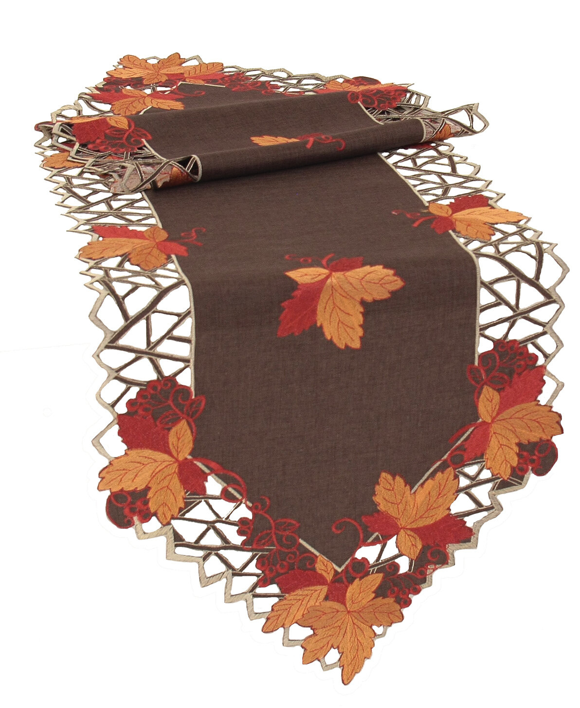 Delicieux Xia Home Fashions Harvest Hues Embroidered Cutwork Fall Table Runner U0026  Reviews | Wayfair