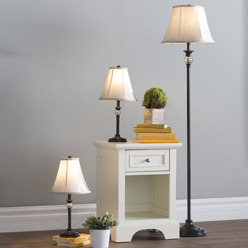 Three posts gallipolis 3 piece table and floor lamp set reviews gallipolis 3 piece table and floor lamp set aloadofball Image collections