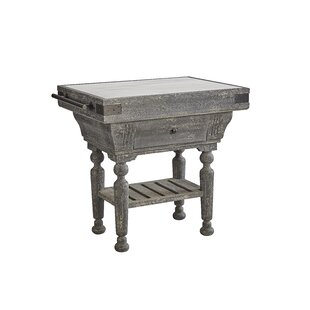 Ryann Kitchen Island with Marble Top