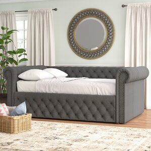 Hinsdale Full Linen Daybed by Three Po..