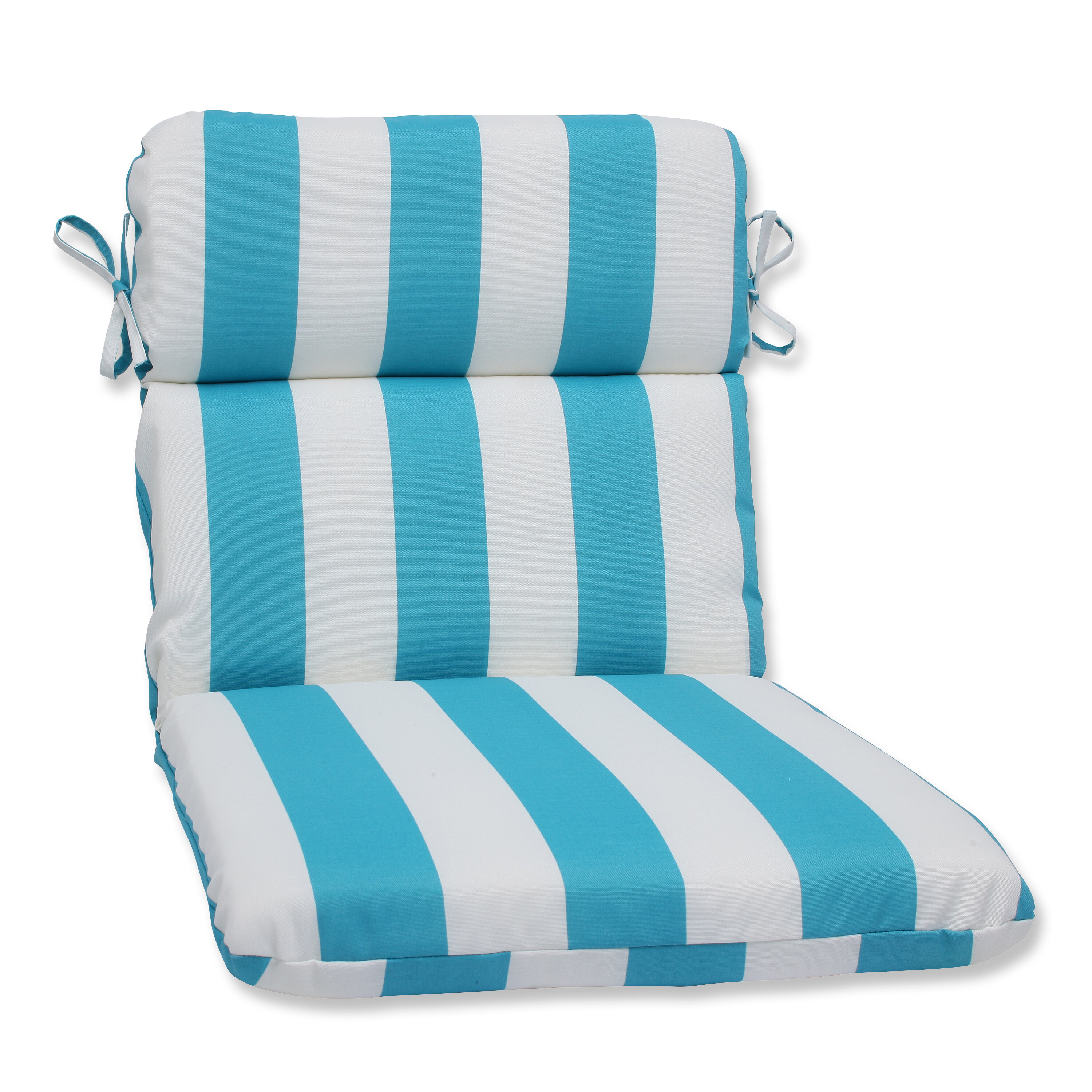 Pillow Perfect Cabana Stripe Indoor Outdoor Lounge Chair Cushion