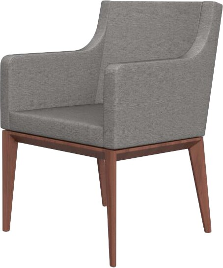 Dining Arm Chairs Upholstered bess armchair upholstered wooden arm chair & reviews | allmodern