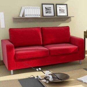 2-Sitzer Sofa Bordeaux von Home & Haus