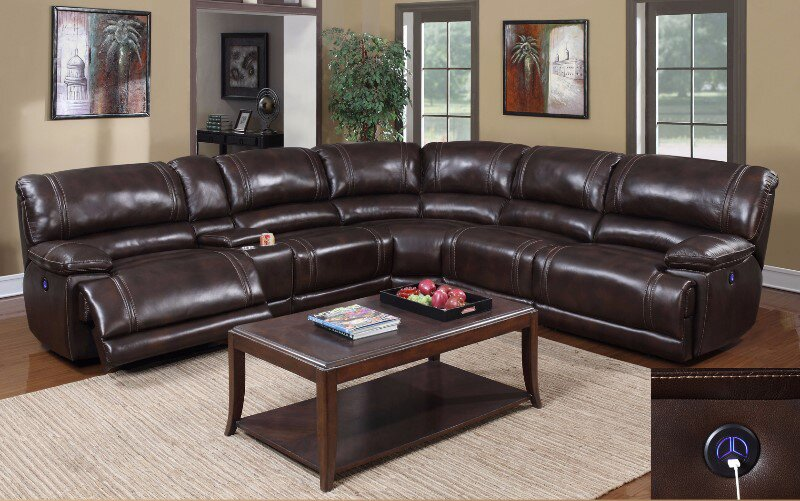 EMotion Furniture Zane Reclining Sectional Reviews Wayfair