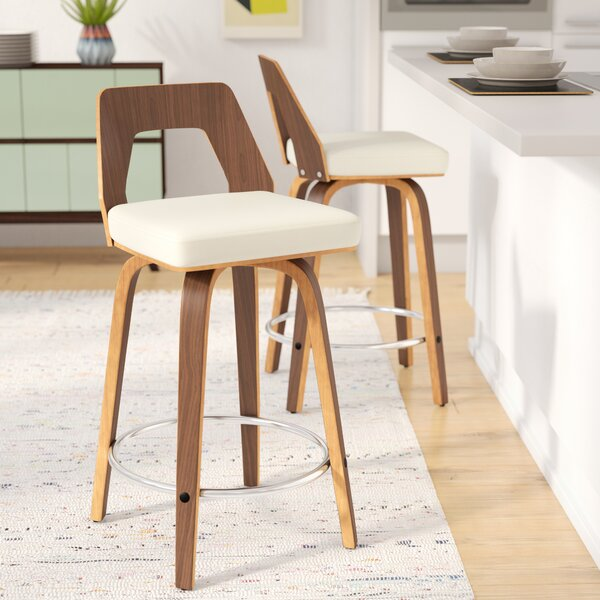 Langley Street Emory 24 Swivel Counter Stool Reviews Wayfair